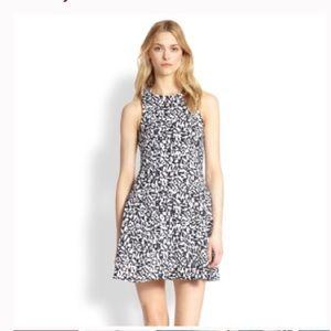 Theory Maydra Print Cotton Fit & Flare Dress